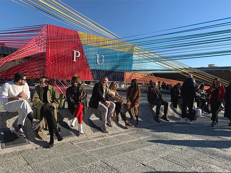 Pitti uomo ha scelto intarsi di fili colorati e tessuti per delineare le tendenze del prossimo autunno inverno