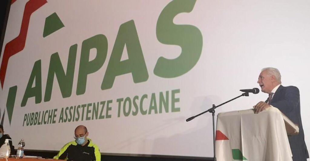 Il presidente della Regione Eugenio Giani all'assemblea annuale di Anpas Toscana a Livorno