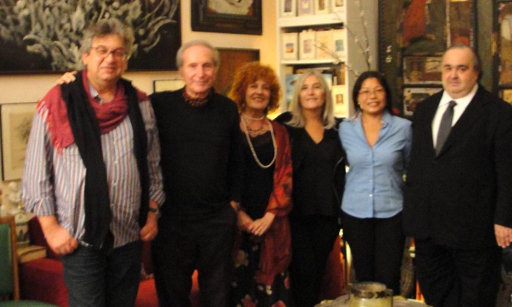 Adriano Rigoli con Aurelio Pes, Fulvia Toscano, Nuccio Iacono