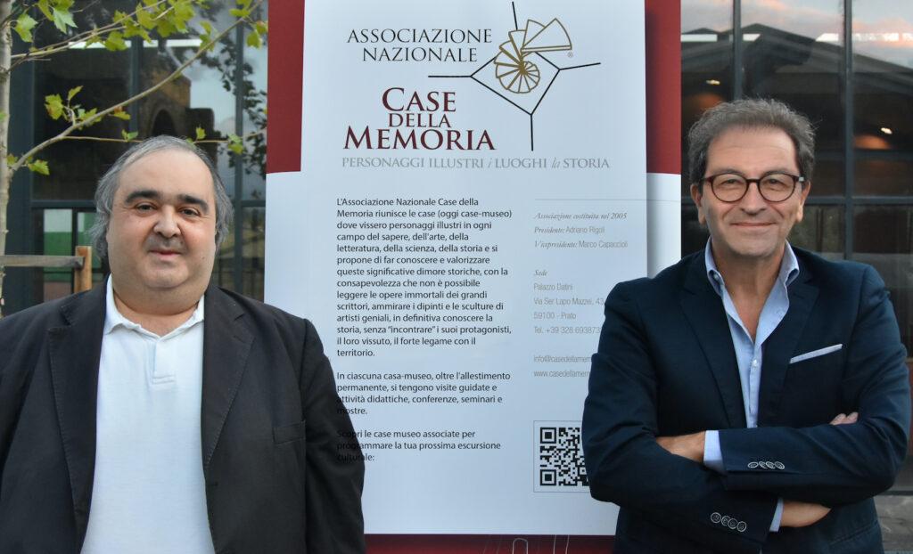 Case della Memoria il presidente Rigoli e il vicepresidente Capaccioli