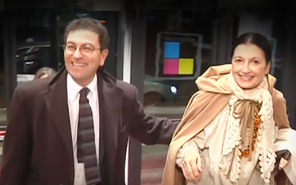 Marco Capaccioli con Carla Fracci all'inaugurazione del Teatro delle Arti, febbraio 2010