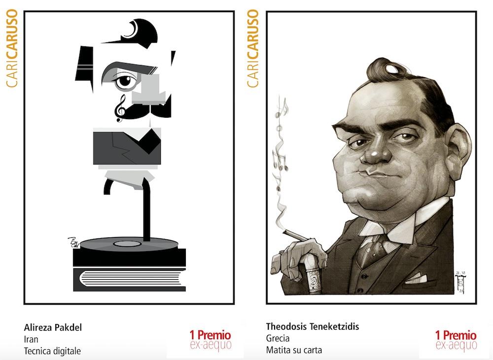 CariCaruso, ecco i vincitori del concorso di caricature